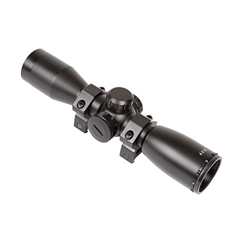 Sighting Crossbow Scope - SA Sports 4x32 Illuminated Multi Reticle Crossbow Scope 550, Weaver Ring Mounts, Waterproof