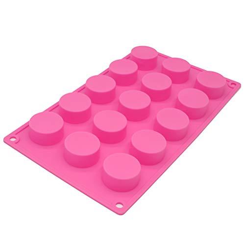 X-Haibei Round Bar Silicone Mold Chocolate Mini Guest Sample Soap Making Dia.1.5-inch per cell ()