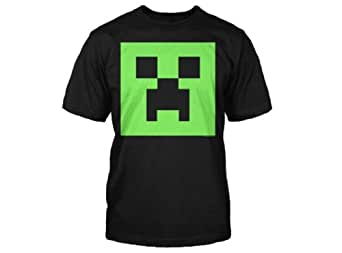 Minecraft Creeper Glow in the Dark Youth T-Shirt, Black Small