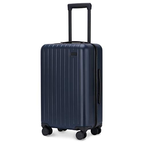 GoPenguin Luggage, Carry On Luggage with Spinner Wheels, Hardshell Suitcase for Travel with Built in TSA Lock Navy Blue ()