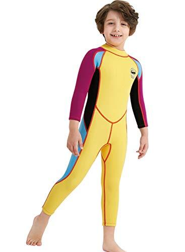 1b06eb8e691 Neoprene Kids Wetsuit for Boys Girls 2.5MM One Piece Full Body Long Sleeve  Swimsuit