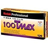Kodak T-Max 100, 100TMX, Black & White Negative Film ISO 100, 120 Size, Pack of 5, (Made in USA for International Use)