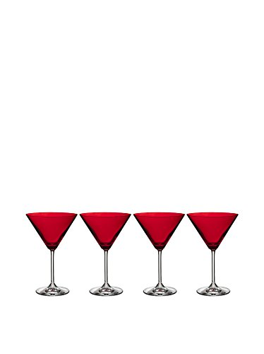 Marquis by Waterford Vintage Martini Glass, Red, Set of 4 by Marquis By Waterford