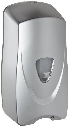 Impact 9328 Foam-eeze ABS Bulk Foam Sensor Soap Dispenser with Refillable Bottle, 4-1/2'' Length x 5-1/2'' Width x 11'' Height, Metallic/Black (Case of 12) by Impact Products