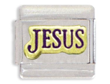 Jesus Italian Charm Bracelet Link (Charm Jesus Italian)