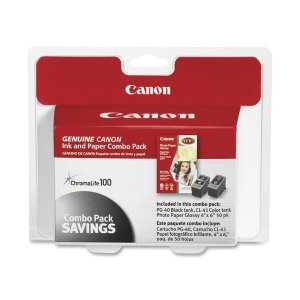 Canon Ink 40- 41 Cartridges Photo Paper Combo Pack CNM0615B009