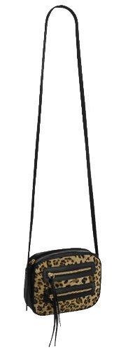 EyeCatch - Jada Small Zipped Cross Body Bag Leopard ShoulderBag
