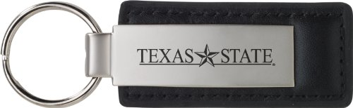 LXG, Inc. Texas State University-San Marcos - Leather and Metal Keychain - Black