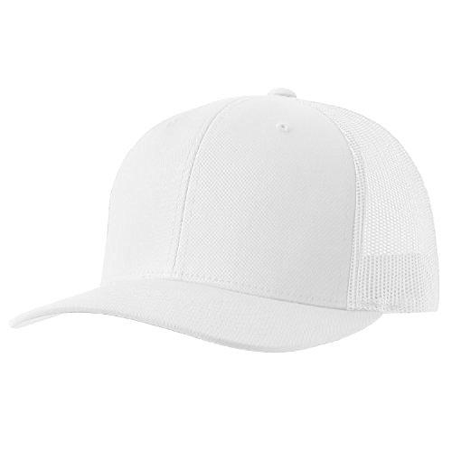 Cap White Trucker (Yupoong Retro Trucker Hat & 2-Tone Snapback - 6606, (White))