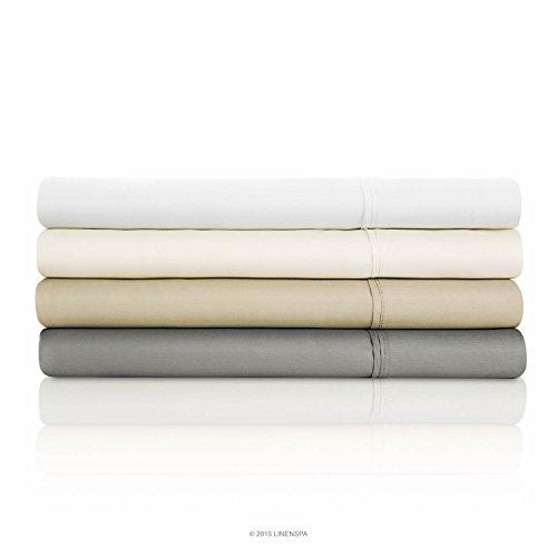 LINENSPA 800 Thread Count Cotton Blend Wrinkle Resistant Sheet Set - Ivory - King Size
