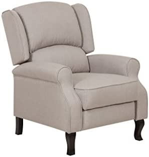 Container Furniture Direct Lily Modern Wing-Back Fabric Accent Recliner Chair