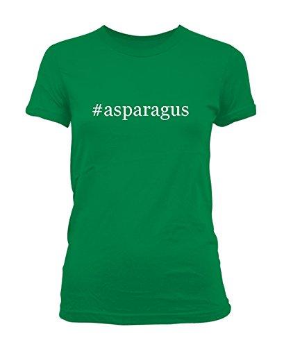 Cut Asparagus (#asparagus - Hashtag Ladies' Junior's Cut T-Shirt, Green,)