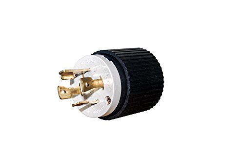 Plug L14 30 30A 125/250V 30P Locking Generator Cable Twist Lock Cable electrical plug, 30A, 125/250 VAC, 3-pole, 4-wire, NEMA L14-30 L1430P L14-30P 30 Amp Power Cord Plug For Up To 7,500 Watt Generators will fit Reliance plugs and cables