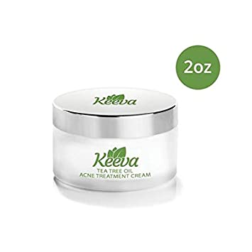 Acne Treatment Cream With Secret TEA TREE OIL Formula – Perfect For Acne Scar Removal, Fighting Breakouts, Spots, Cystic Acne – See Results in Days Without Dry Skin 2oz