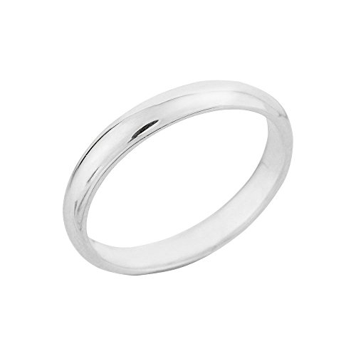 925 Sterling Silver 3 mm Thumb Ring(Size 8)