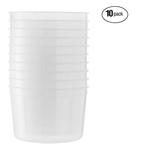 12 oz Clear Round Deli Containers Plastic Freezer Soup Container w//Lid 48//PK