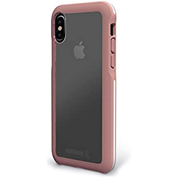 BodyGuardz - Trainr Case, Extreme Impact and Scratch Protection for iPhone X (Rose/White)