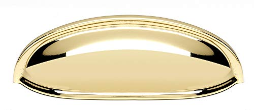 "Alno 3"" Cup Pull, UNLACQUERED Brass"