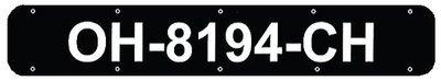 BERNARD ENGRAVING Boat Registration Number Plates (Black Plastic, 24) Co.