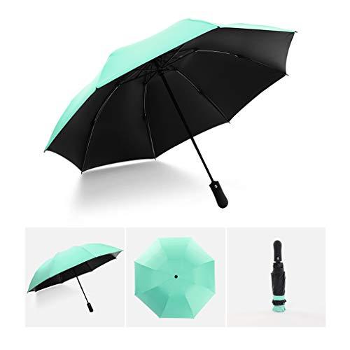 CapsA Compact Travel Umbrella - Inverted Reverse Sun&rain Car Umbrella Windproof Reinforced Canopy Ergonomic Handle Auto Open/Close Multiple Colors (D)