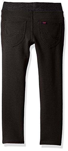 LEE Big Girls' Knit Waist Skinny Pull on Pant, Black, 10 by LEE (Image #2)