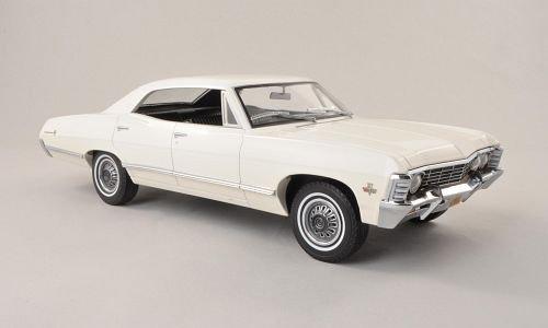 Unbekannt Chevrolet Impala Sport Sedan, weiss , 1967, Modellauto, Fertigmodell, Grünlight 1:18