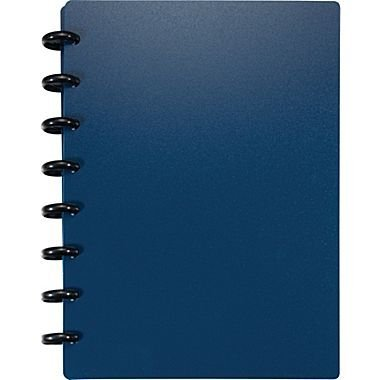 Staples Arc Customizable Durable Poly Notebook System, Navy, 8.5