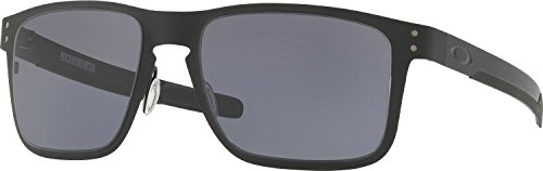 Oakley Holbrook Metal Square Sunglasses, Matte Black /Gray 55 - Lenses Holbrook Prescription