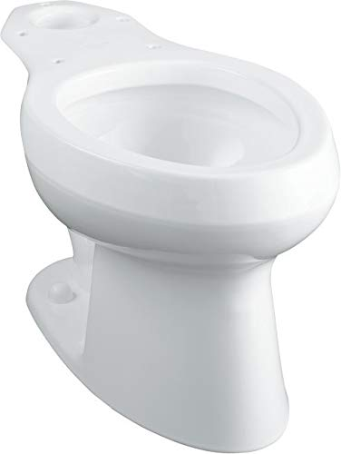(Kohler Wellworth Pressure Lite WatersenseElongated Toilet Bowl With 12 In. Rough-In, White, 1.6 Gpf)