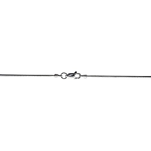 Sterling Silver Soft Wire Round Omega Neck 1.25 mm Choker Nickel Free Italy, 16 inch ()