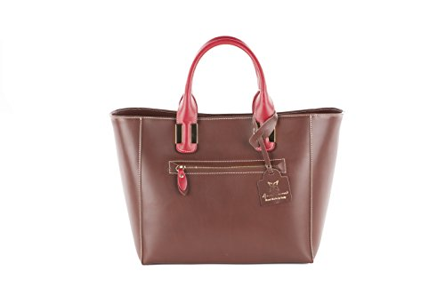 With Bag cm Shopper Cecere real Made in Anna belt in 41x26x13 genuine Italy shoulder leather xEv44