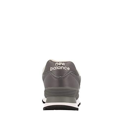 Grigio Grey ginnastica New da Uomo Balance pelle 574 Scarpe in xPzT8Hwzqn