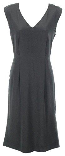 J Équipage Taille Robe De Soie Sans Manches De Style Tal T8 F2196 De Nouveau Noir