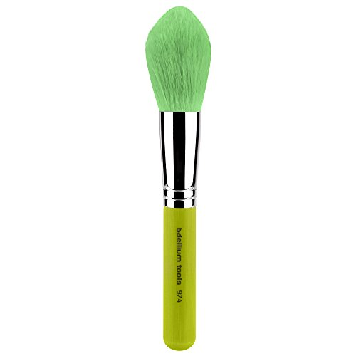 Bdellium Tools Professional Eco-Friendly Makeup Brush Green Bambu Series with Vegan Synthetic Bristles - Tapered Powder 974 by Bdellium Tools