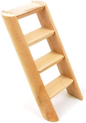 YeLinjn - Escalera de Madera con 4 peldaños, diseño de pájaros, roedores y Ratones, 15 cm, para decoración del hogar: Amazon.es: Hogar