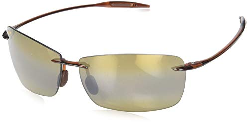 Maui Jim Lighthouse Polarized Rimless Sunglasses, Rootbeer, 65 ()