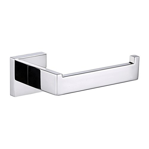 Bathroom Toilet Paper Holder, Angle Simple SUS304 Stainless Steel Bath tissue holder, Open Side Toilet Paper Tissue roll Holder, Modern Toilet Paper Hanger Bar Rod Cabinet Wall Mount, Polished Chrome by Angle Simple