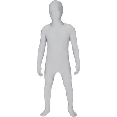 [Morphsuits Kids Costume, Medium, White by Morphsuits] (White Morphsuit)