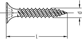 mit Bohrspitze d: 3,5mm, l: 25mm, 1000 Rigipsschrauben Schnellbauschrauben Trockenwandschrauben Gipsplattenschrauben phosphatiert