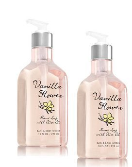 Bath and Body Works 2 Pack Vanilla Flower Hand Soap with Olive Oil. 10 Oz by Bath & Body Works