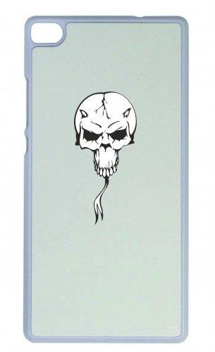 """Smartphone Case Apple IPhone 7+ Plus """"Totenkopf mit Zunge Hörner Skelett Rocker Motorradclub Gothic Biker Skull Emo Old School"""" Spass- Kult- Motiv Geschenkidee Ostern Weihnachten"""