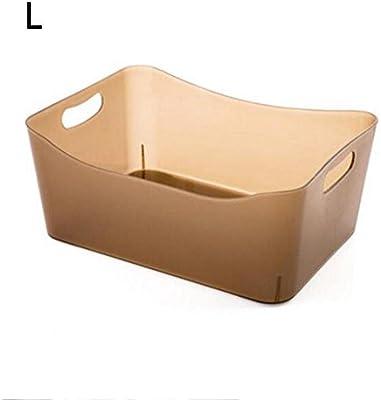Z@SS-Cesta de fruta Baño transparente Cesta de almacenamiento de plástico Cocina Verduras Cesta de almacenamiento de frutas Caja de almacenamiento de aperitivos , large champagne color: Amazon.es: Hogar
