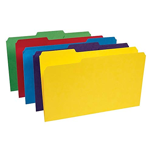 (Staples Heavyweight Colored File Folders, 3 Tab, Legal, 50/Box)