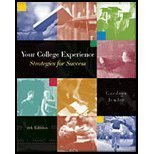 Your College Experience : Strategies for Success (with CD-ROM and InfoTrac), Gardner, John N. and Jewler, A. Jerome, 0534593925