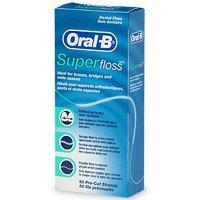 OralB super Floss Mint pré-couper les brins 50 comptage