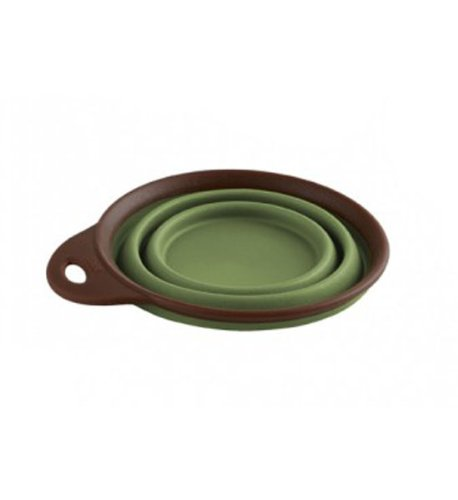 Dexas Popware for Pets Collapsible Travel Cup/Bowl, Small, Green