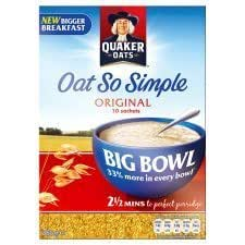 Quaker Avena Avena So Simple original Big tazón 385 g ...