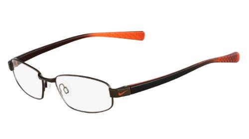 NIKE EYEGLASSES NK 8092 Shiny Brown Walnut/Orange 200 - 50mm