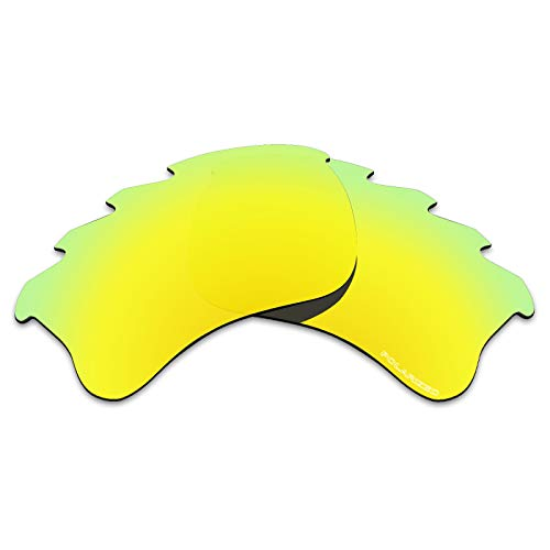 Tintart Performance Replacement Lenses for Oakley Flak Jacket XLJ Vented Sunglass Polarized Etched-Golden ()