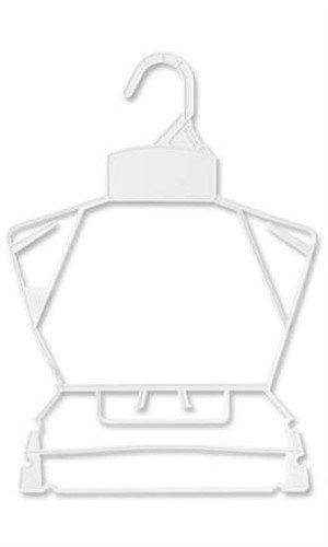 Pack of 250 Children's White Plastic Clothing Set Economy Hangers 10''